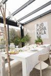 DIY feestslinger wit gedekte tafel zomer